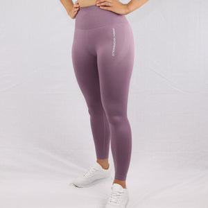 Women's Lilac Seamless High Waisted Gym Leggings