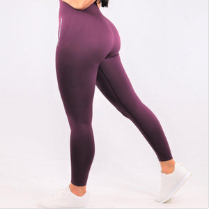Women's Dark Purple Essential Seamless High Waisted Gym Leggings
