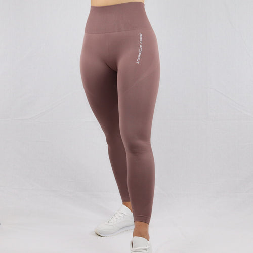 Women's Taupe Essential Seamless High Waisted Gym Leggings