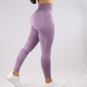 Women's Purple Flex High-waist Seamless Gym Leggings