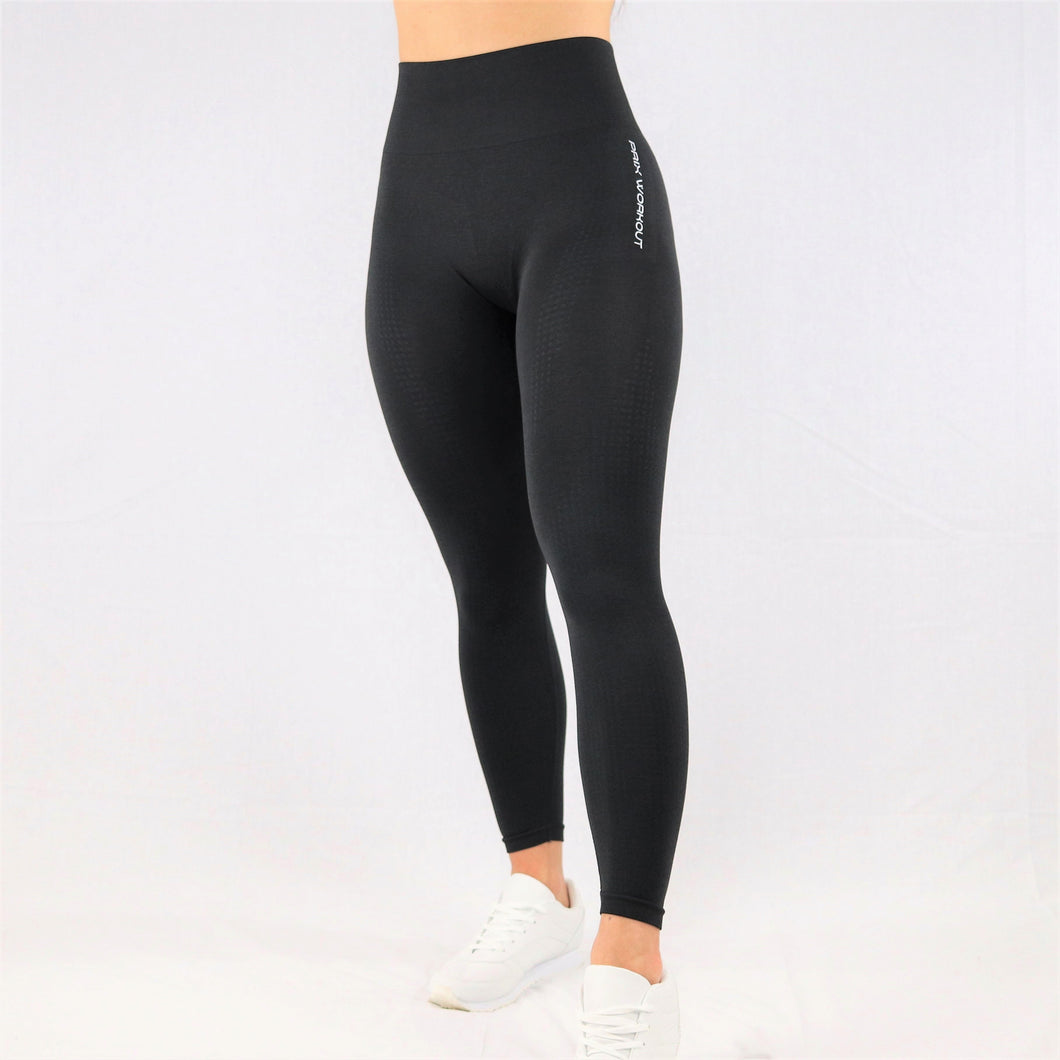Womens classic high waisted gym leggings in black