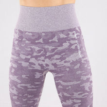 Load image into Gallery viewer, Women's Purple Camouflage Seamless High waisted Gym Leggings