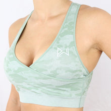 Load image into Gallery viewer, Women's Mint Camouflage Gym Sports Bra