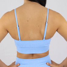 Load image into Gallery viewer, Prix Workout blue gym wear sports bra