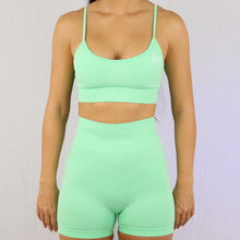 Load image into Gallery viewer, Prix Workout mint gym wear shorts