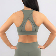 Load image into Gallery viewer, Khaki High Neck Sports Bra