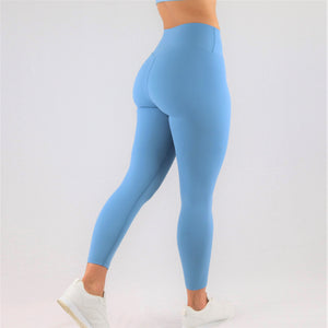 womens blue 7/8 gym leggings