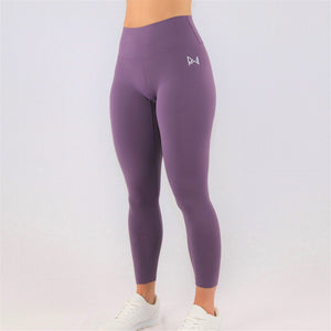womens purple 7/8 gym leggings