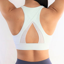 Load image into Gallery viewer, White High Neck Sports Bra