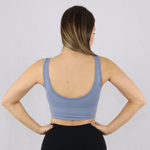 Load image into Gallery viewer, Women's Light Blue Longline Sports Bra