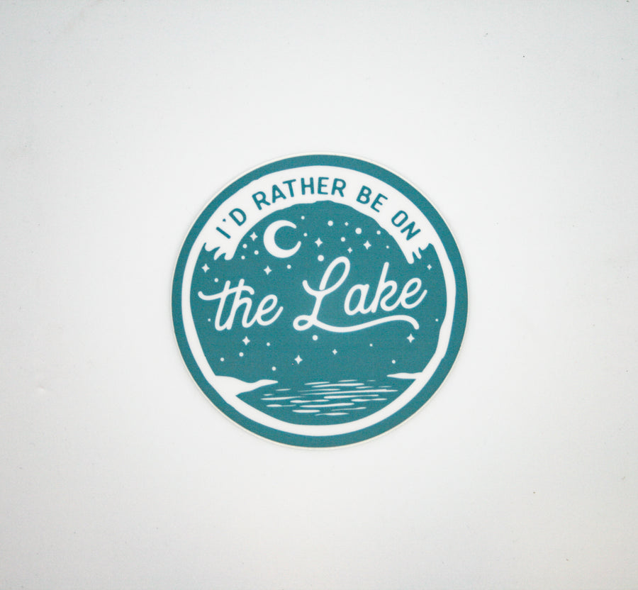 NW Stickers-Circle I'd Rather be on the Lake