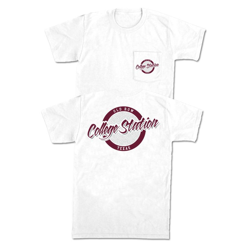 OR College Station, TX pocket tee