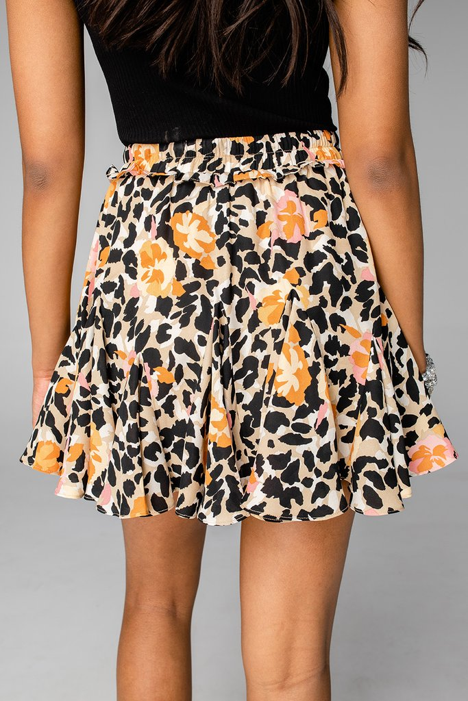 Presley poppy field skirt