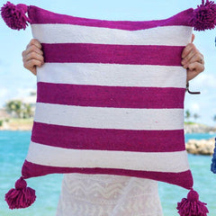 "Safi 20"" x 20"" Pom Pom Pillow Cover"