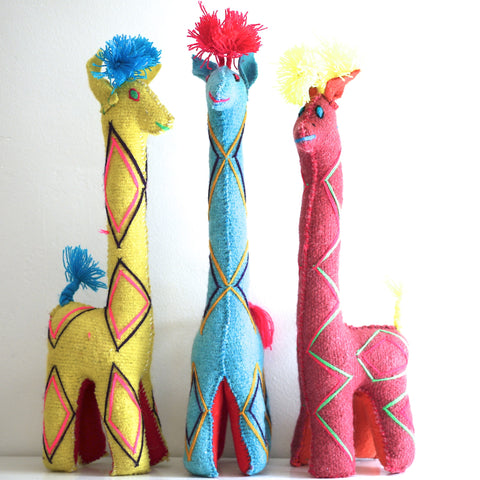 Decorative Wool Giraffes
