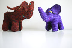 Decorative Wool Elephants & Donkey