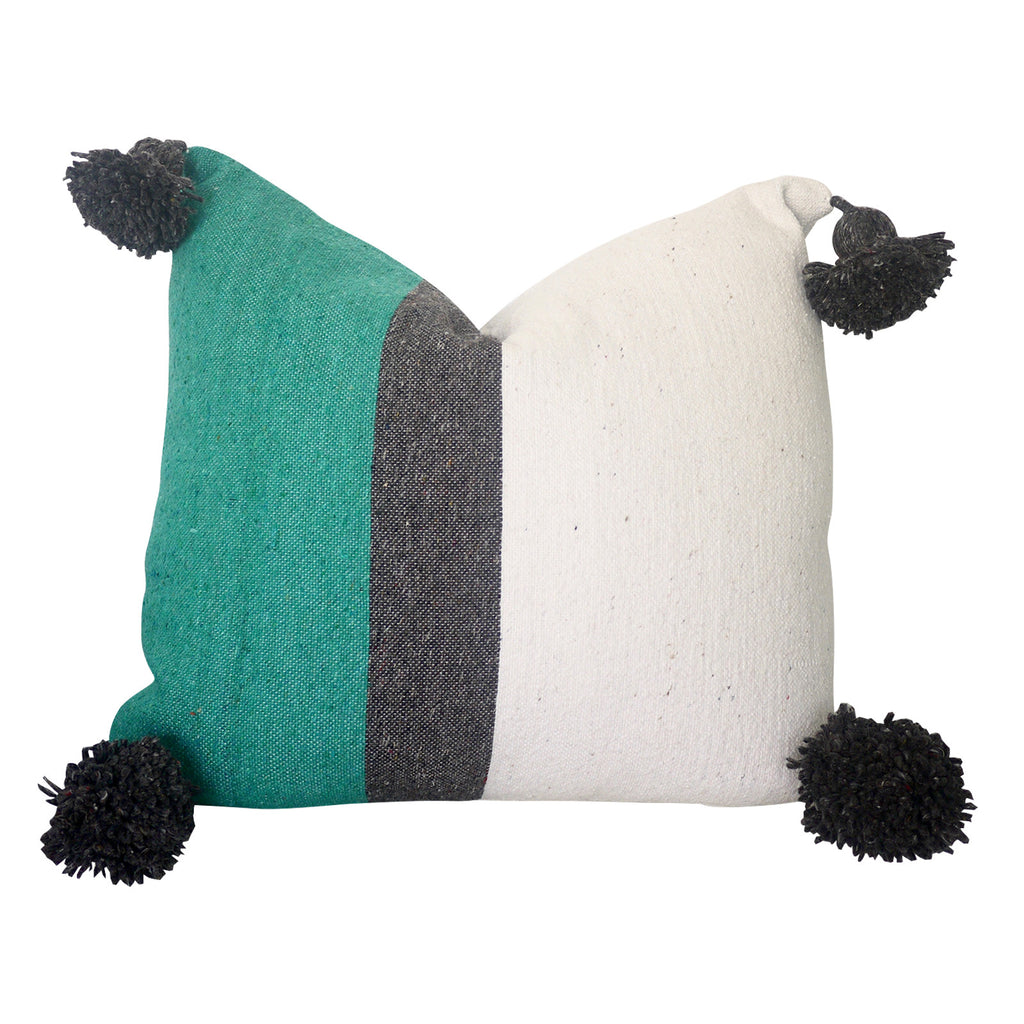 "Ifni's Cousin 20"" x 20"" Pom Pom Pillow Cover"