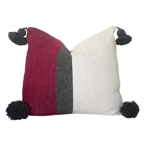 "Safi's Cousin 20"" x 20"" Pom Pom Pillow Cover"
