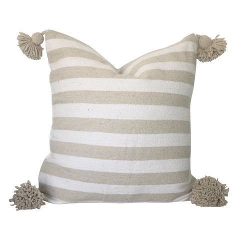 "Ita 20"" x 20"" Pom Pom Pillow Cover"