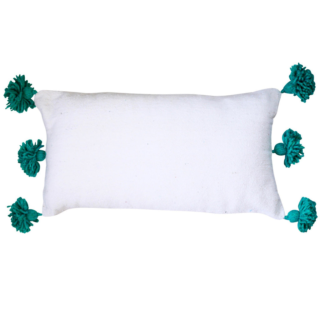 "Tamara 14"" x 26"" Pom Pom Pillow Cover"