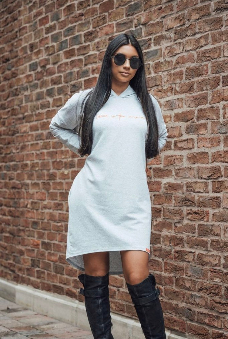Waisted Hooded Dress