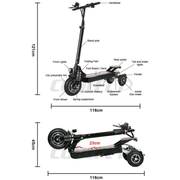 CoolFly-T10-1000w 48v  3 Wheel Folding Electric Scooter ( New Model)