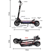 CoolFly-D10- 2000w 48v - Impressive Dual Motor  Folding Electric Scooter ( New Model)