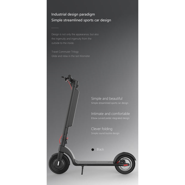 X8 -350W Sublime Folding Electric Scooter