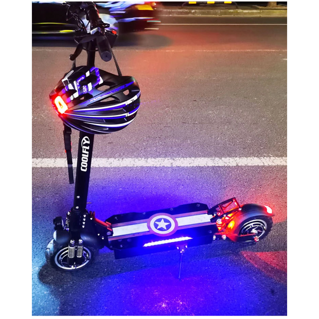 CoolFly-D10- 2000w 48v - Dual Motor  Folding Electric Scooter