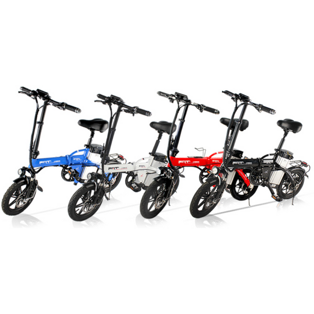 "CityELF 14"" 350W 48V Compact Folding Electric Bike Media"