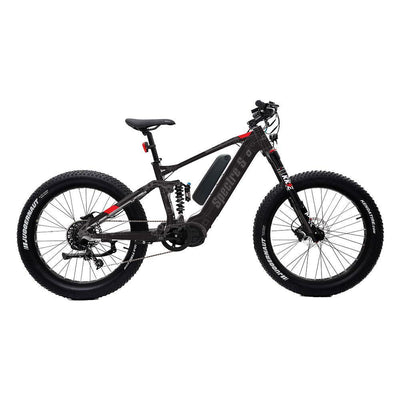 EUNORAU 48V1000W Specter-S Dual Battery Torque Sensor Motor - All Terrain Full Suspension Fat Tire Electric Bike e-Bike ( New 2021) - Best Electric City Rides