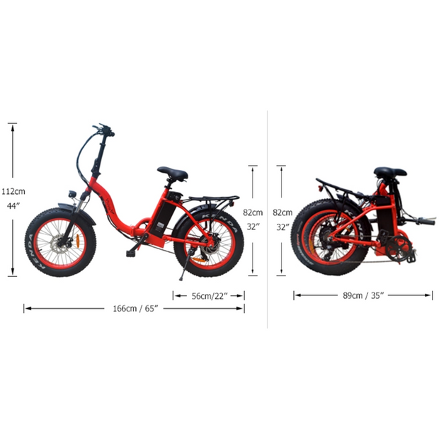 Vtuvia SF20 Fat Tire 750W Folding Electric Bike
