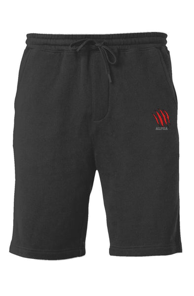 Alpha Red Fleece Shorts
