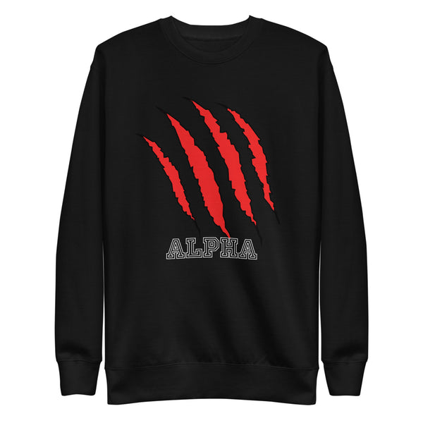 Alpha Red Unisex Fleece Pullover