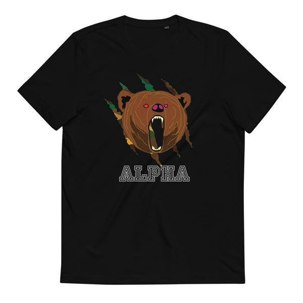 Alpha Bear Unisex Organic Cotton T-Shirt