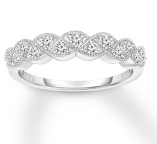 Load image into Gallery viewer, Diamond Anniversary Band 1/4 ct tw Round-cut 10K White Gold