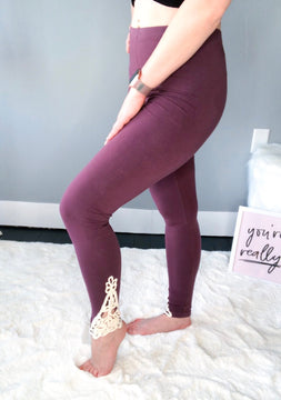 Ankle Lace High Waisted Leggings