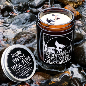 Natural Soy Wax Candle Black Moon