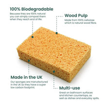 Load image into Gallery viewer, Compostable Sponges Twin Pack