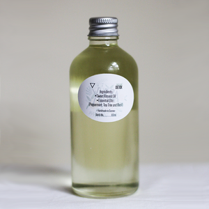 Herbal Green Peppermint & Basil Aromatherapy Bath & Body Oil