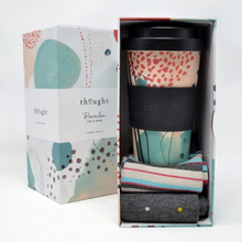 Load image into Gallery viewer, Bamboo Socks & Coffee Cup Gift Set