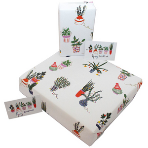 Christmas Recycled Wrapping Paper Christmas Cactus
