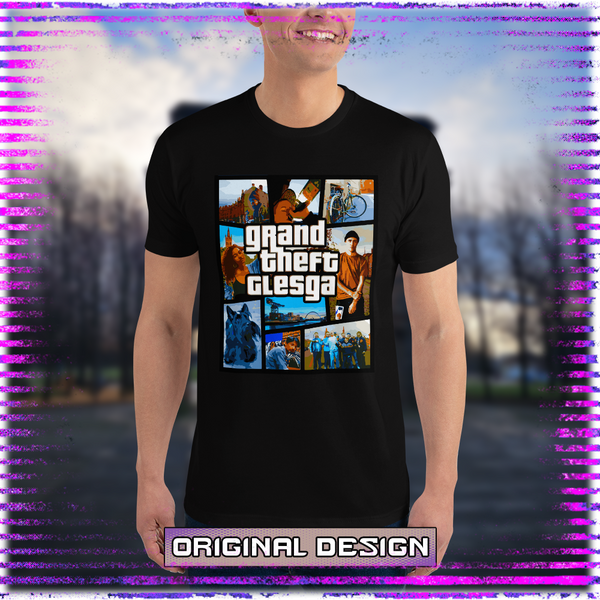 Grand Theft Glesga Masculine Fitted T-shirt