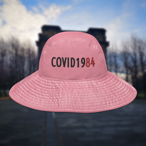 COVID-1984 Wide brim bucket hat