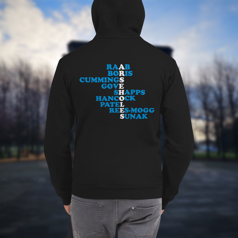 Arsehole Conservatives Unisex Zipped Sweater Hoodie