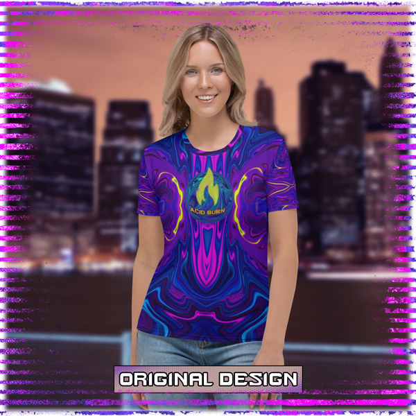 Acid Burn: Active Matrix Feminine T-Shirt