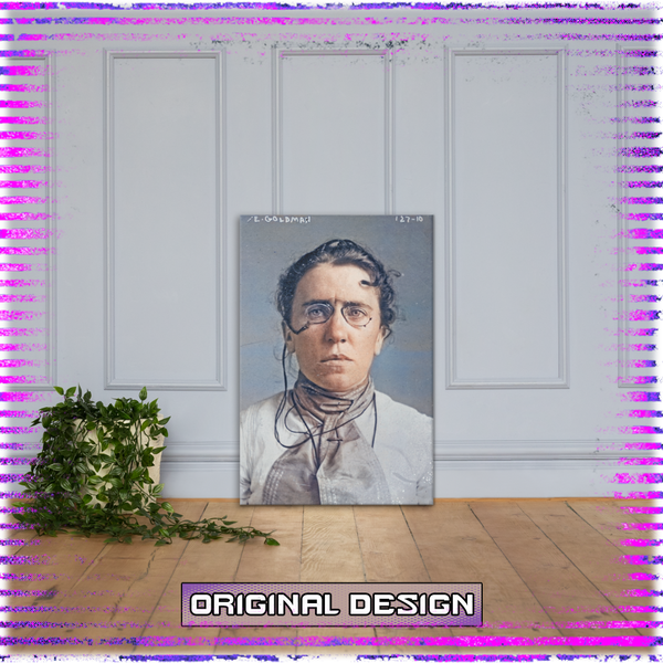 Emma Goldman: 1901  -  Coloured Canvas
