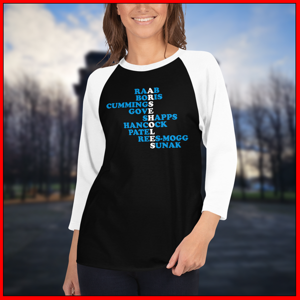 Arsehole Conservatives Unisex 3/4 sleeve shirt