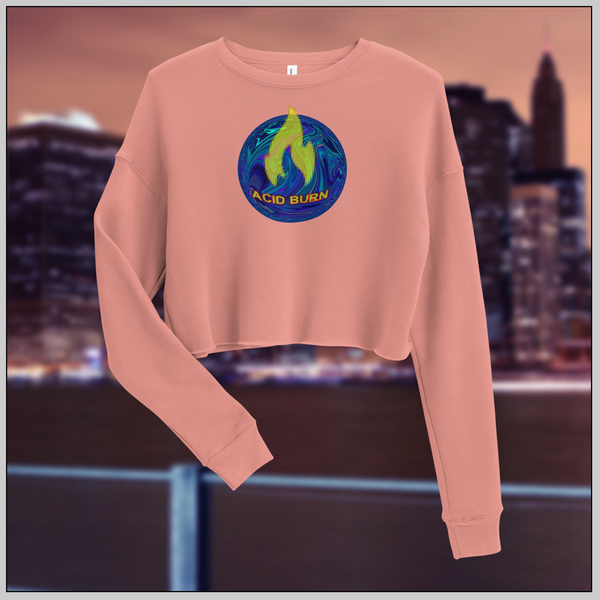 Acid-Burn Feminine Crop Sweatshirt
