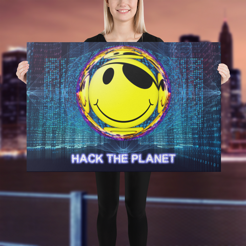 Hack The Planet Canvas